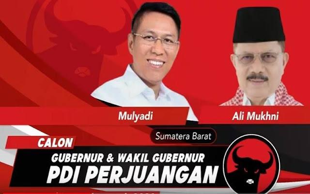 DPD Demokrat Sumbar Bantah Mulyadi-Ali Mukhni Kembalikan SK PDIP: Baru Permintaan Pribadi Bukan Partai