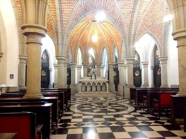 A cripta da Catedral da Sé