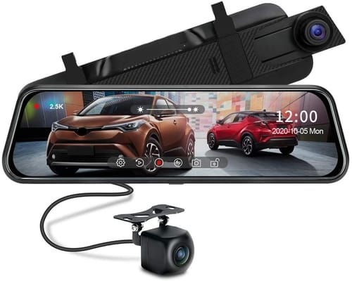 Jansite 2.5k Mirror Dash Cam for Cars
