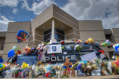 Police Car and Flowers
