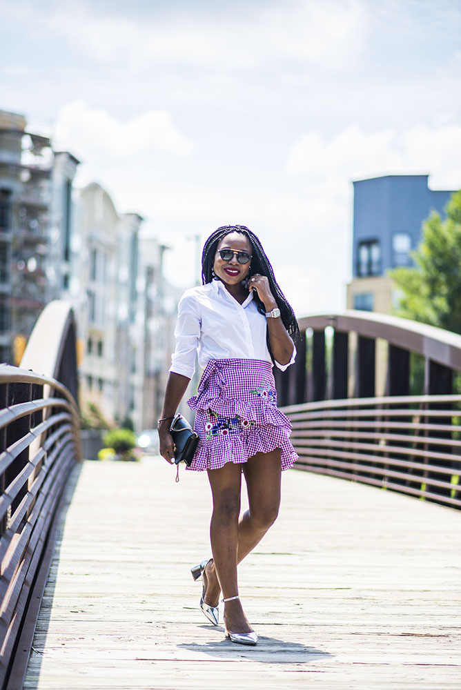 How to style a Gingham Skirt