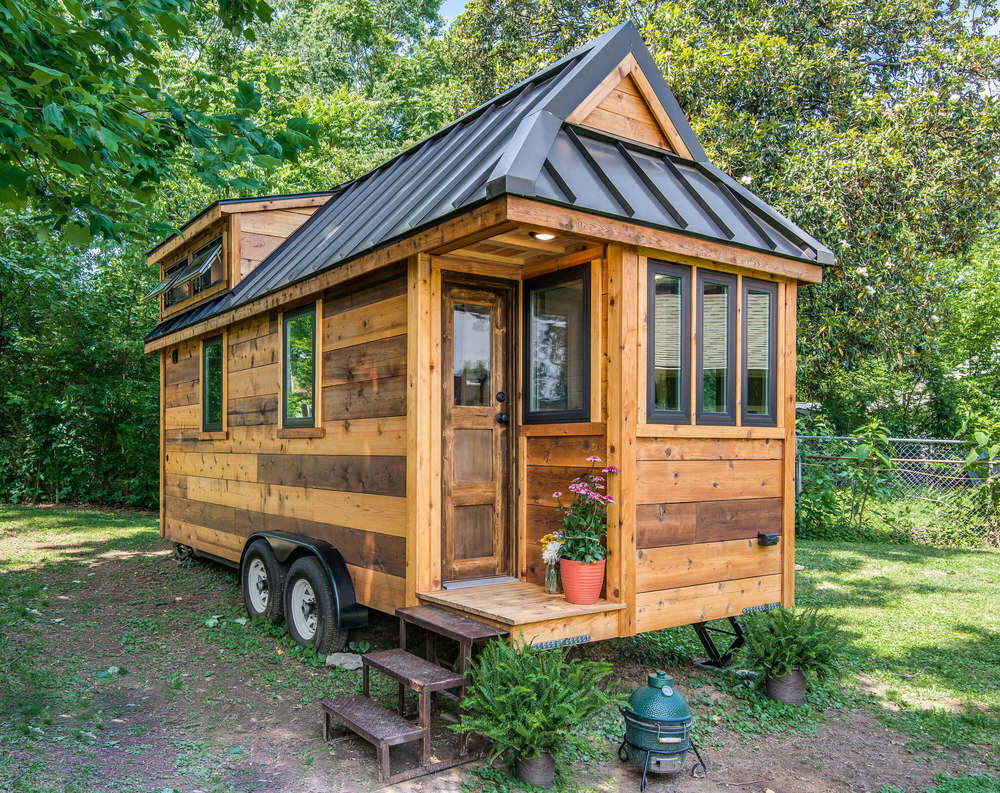 Tiny house town the cedar mountain from new frontier tiny for Modern mini homes
