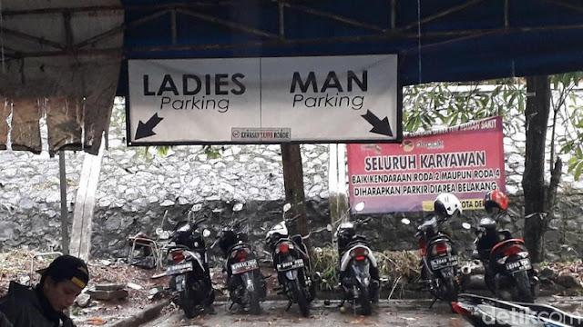 Ini Parkiran RSUD Depok yang Viral, Motor Pria-Wanita Dipisah