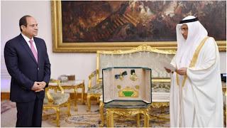 """البرلمان العربي يمنح عبد الفتاح السيسي """"وسام القائد"""""""