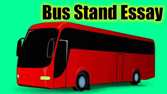 A bus image used for English essay on bus stand