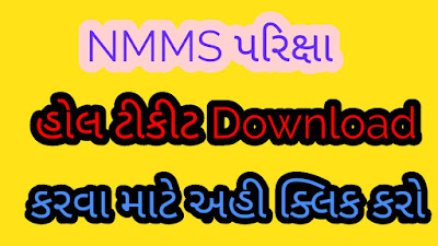 Download the hall ticket for the NMMS exam.