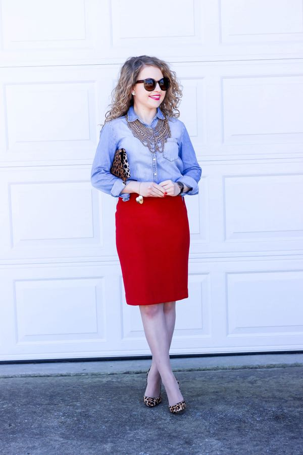 J. Crew Pencil Skirt, Ivanka Trump Heels