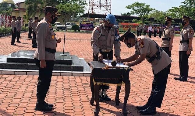 Empat Pejabat Tergabung di Polres Rohil Disertijabkan