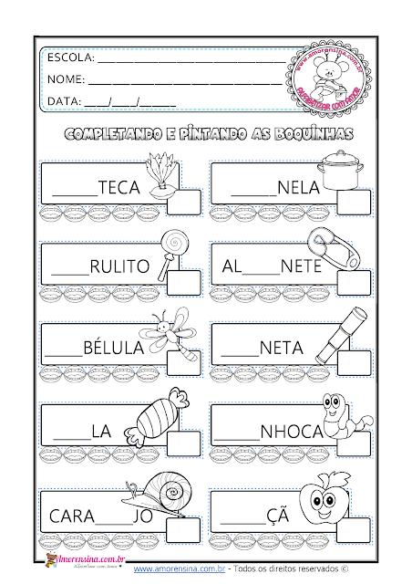 1º ano, Alfabetizar com amor, Amorensina, Atividades de alfabetização 1 ano, Atividades para alfabético, Atividades para silábico-alfabético, Atividades educativas de alfabetização online