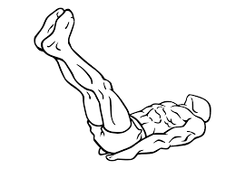 Flat Bench Lying Leg Raise exercise to Make Six Pack at Home