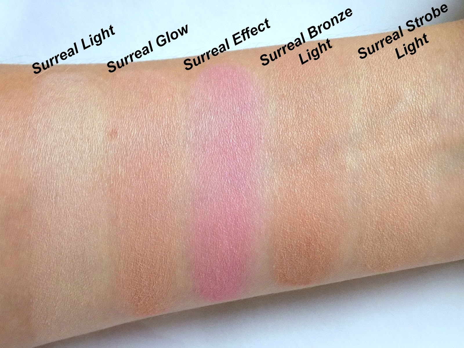 Hourglass Ambient Lighting Edit - Surreal Light palette swatches