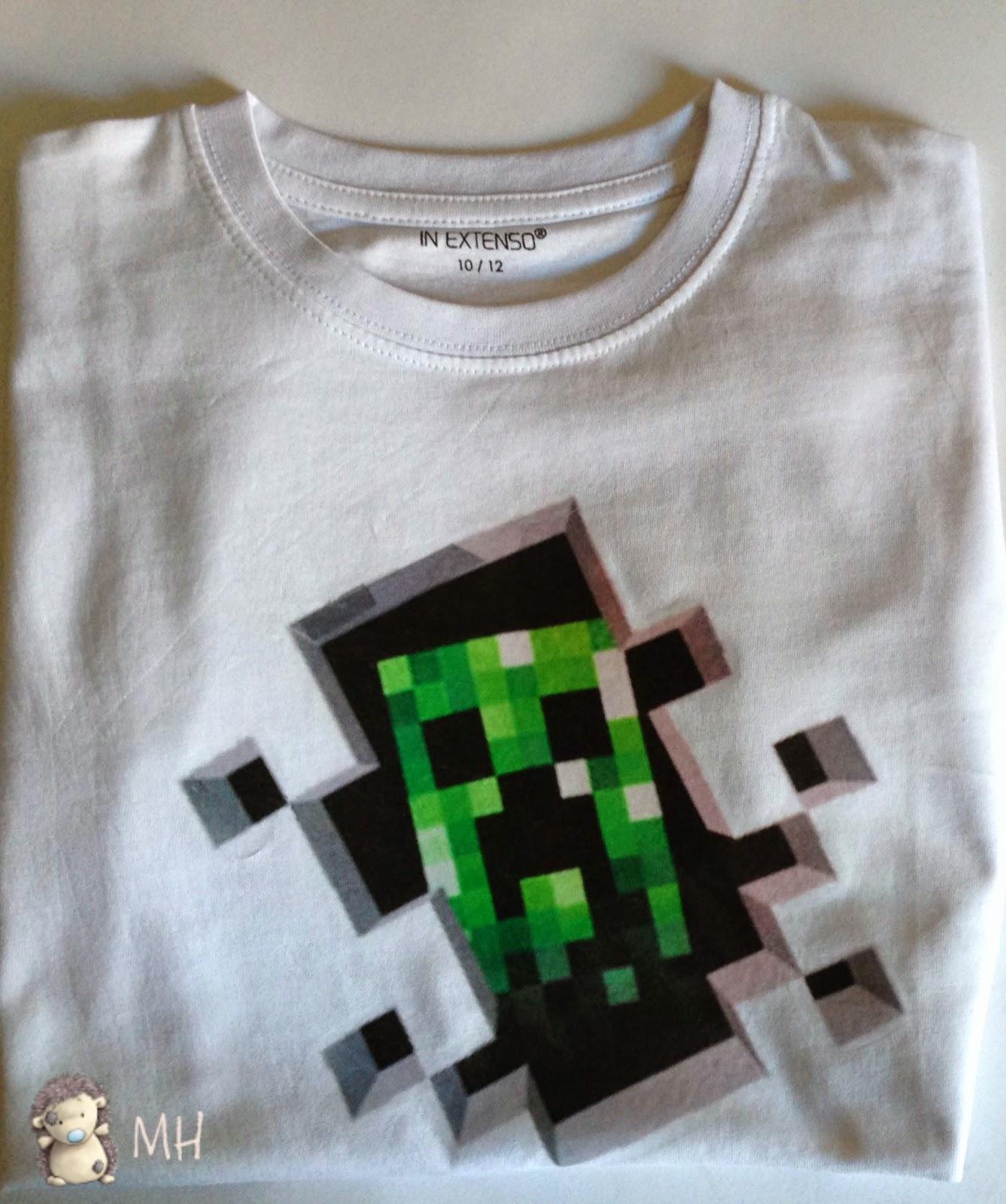 camiseta creeper de minecraft