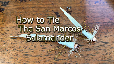 San Marcos Salamander, Salamander Fly, Tuesday Tie, Texas Fly Fishing, Texas Freshwater Fly Fishing, TFFF, Pat Kellner, Fly Tying