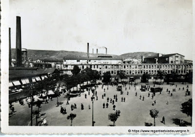 Photo ancienne de Clermont-Ferrand les usines Michelin
