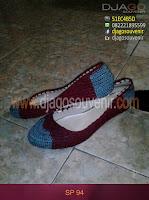 Sepatu Rajut dengan motif kaltim hak 3 cm