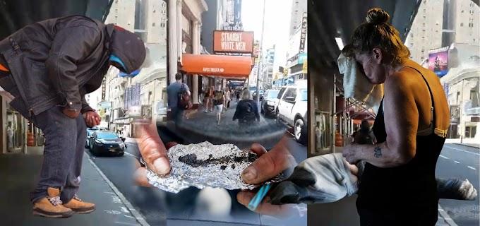 Times Square retrocede por la pandemia a los años ochentas y noventas  con adictos, desamparados y delincuentes