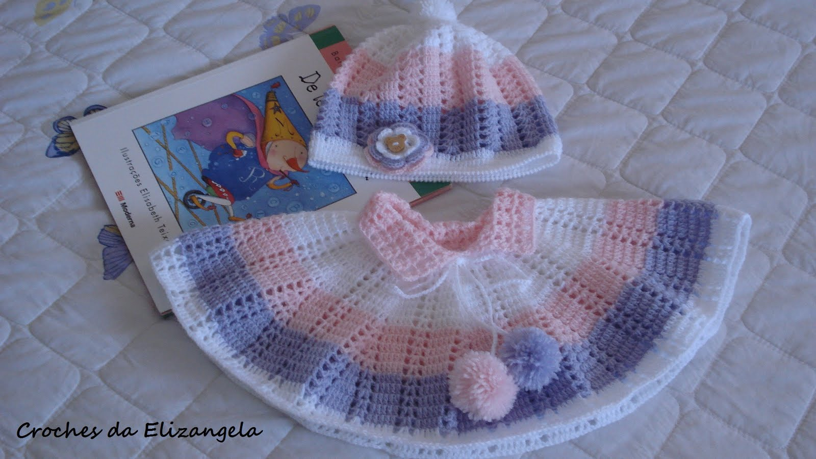 Ergahandmade Crochet Baby Poncho And Hat Diagrams Free Pattern