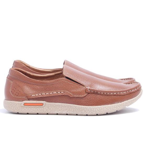 Giày Lười Da Bò Nam Cao Cấp BANULI K2DL1T0SO Màu Vàng Bò