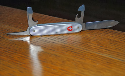 Victorinox showing off its blades