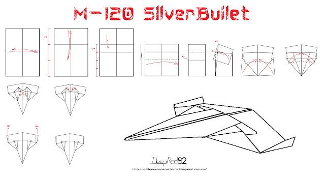 Infografía avión de papel M-120 SilverBullet
