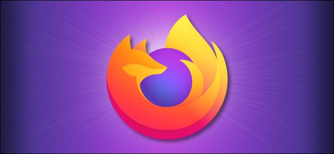 شعار Firefox على خلفية أرجوانية