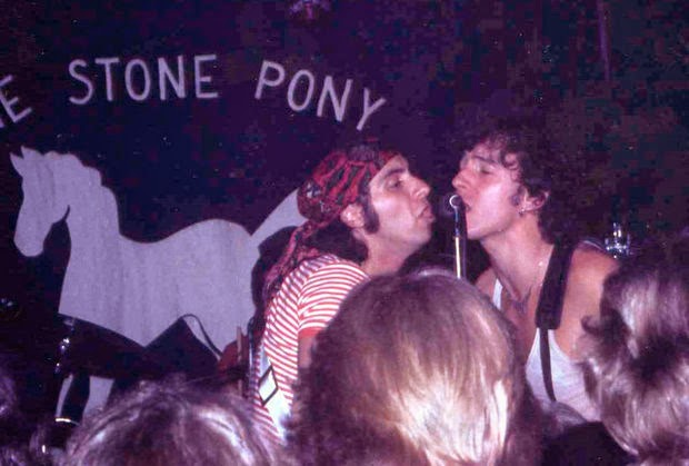 A very young Bruce Springsteen & Steven Van Zant on the Pony stage