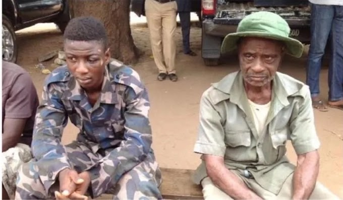 BENUE POLICE CAUGHT A JSS2 STUDENT IN A MILITARY OUTFIT FOR ARMED ROBBERY