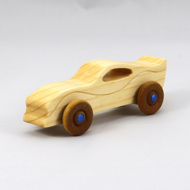 Handmade Wooden Toy Car Itty Bitty Ferarri Mini Play Pal Size Pocket Car 777784613