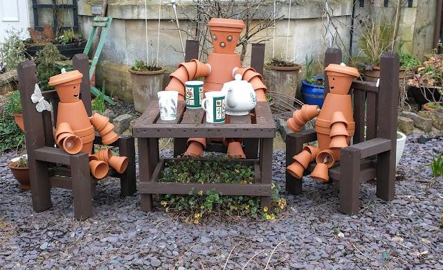 Terracotta garden tea party