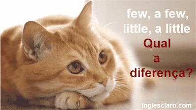 qual a diferença entre Few, A Few and Little, A Little