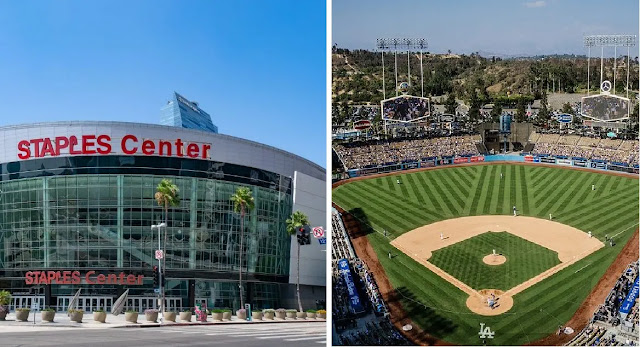 A game at Dodger Stadium or the Staples Center