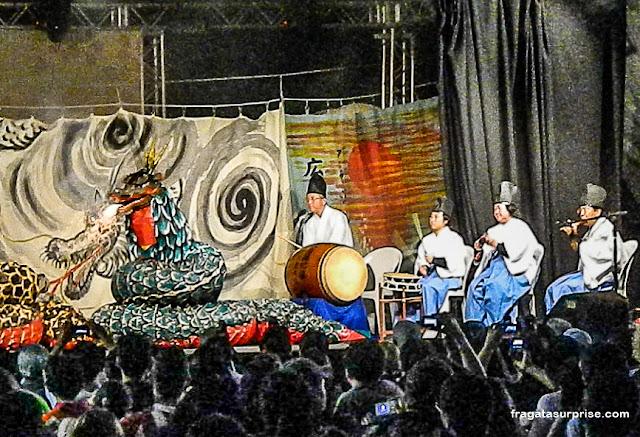 Teatro Kagurá no Festival Japonês em Salvador