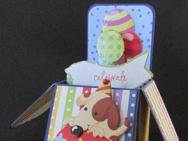 Birthday Box Card with Dollar Tree Stickers