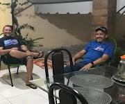 Cascaria está na região e visitou o blogueiro Carlinhos Filho em Pedreiras