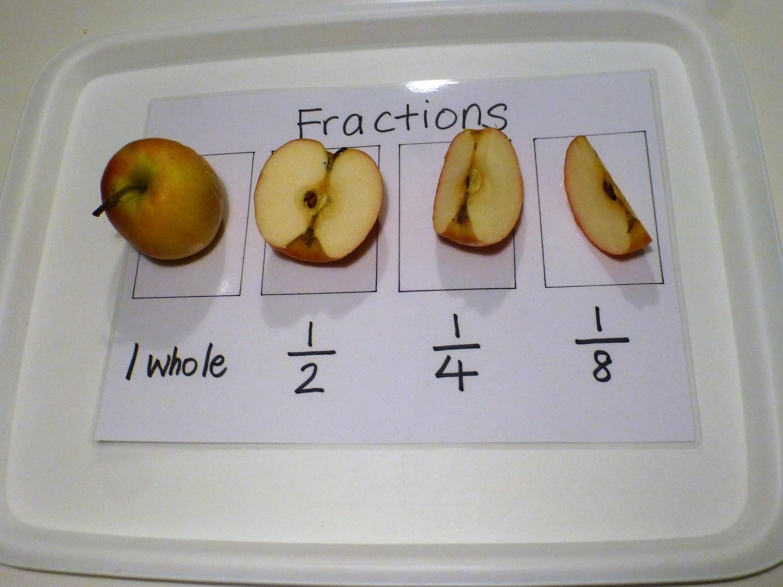Family Fecs Teaching Fractions With An Apple