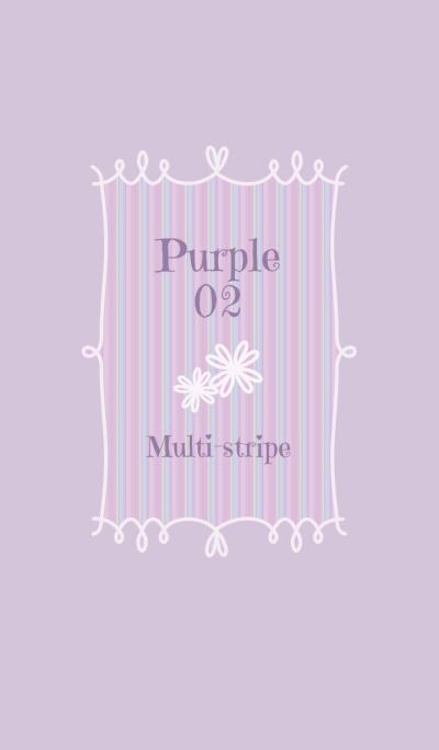 Multi-stripe/Purple 02