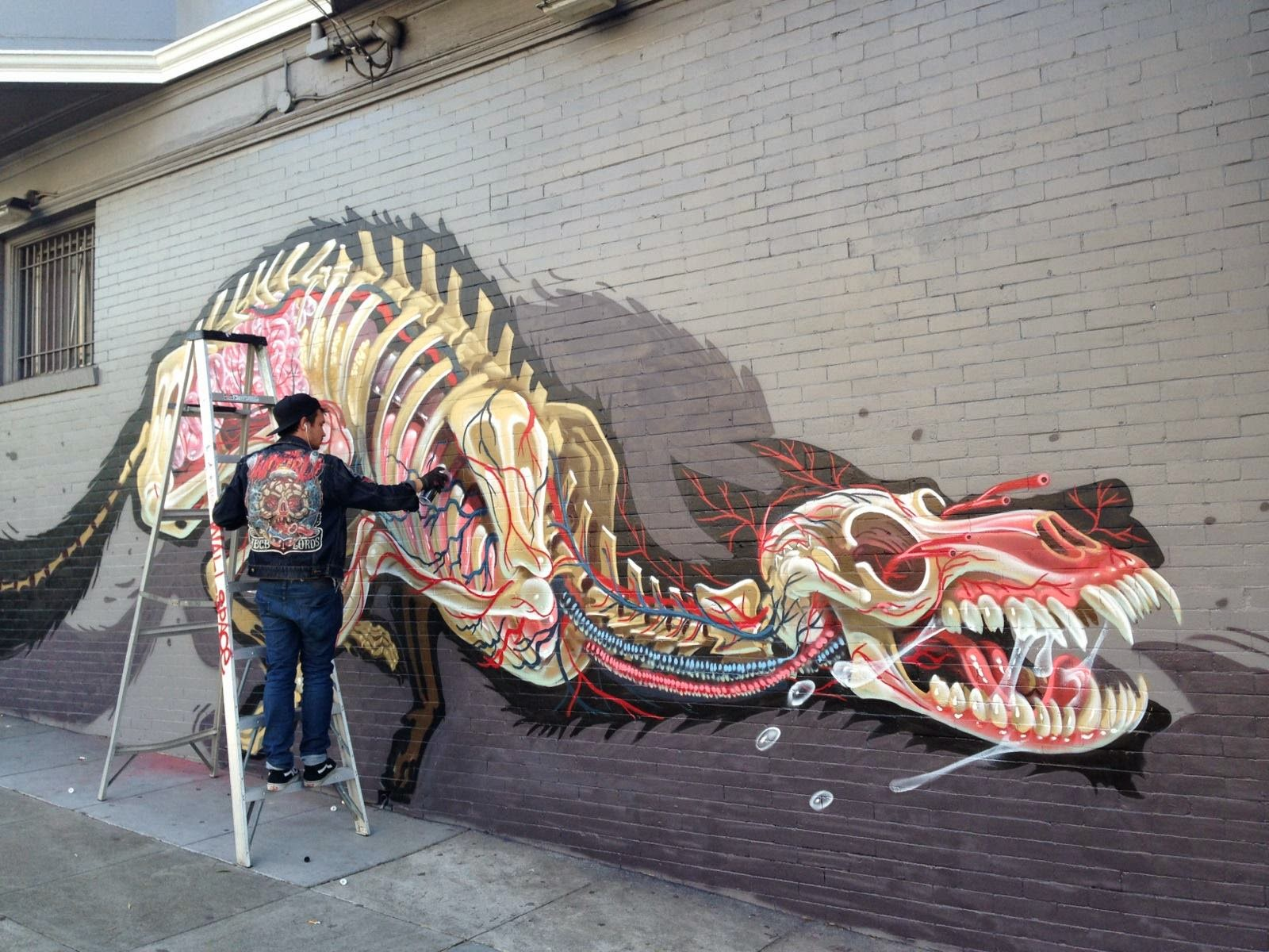 New York Wall Mural Nychos New Mural San Francisco Usa Streetartnews