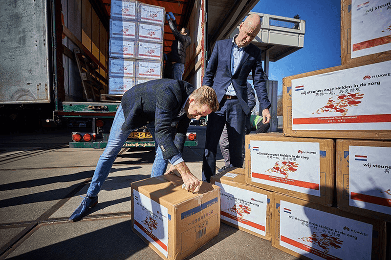 Huawei donates 800K masks to the Netherlands to aid against COVID-19