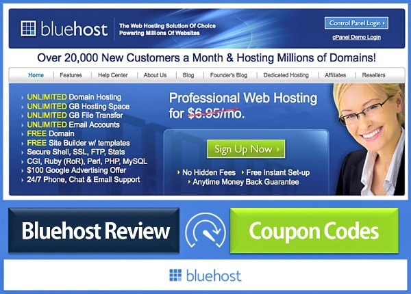 BlueHost Review and Coupon Codes