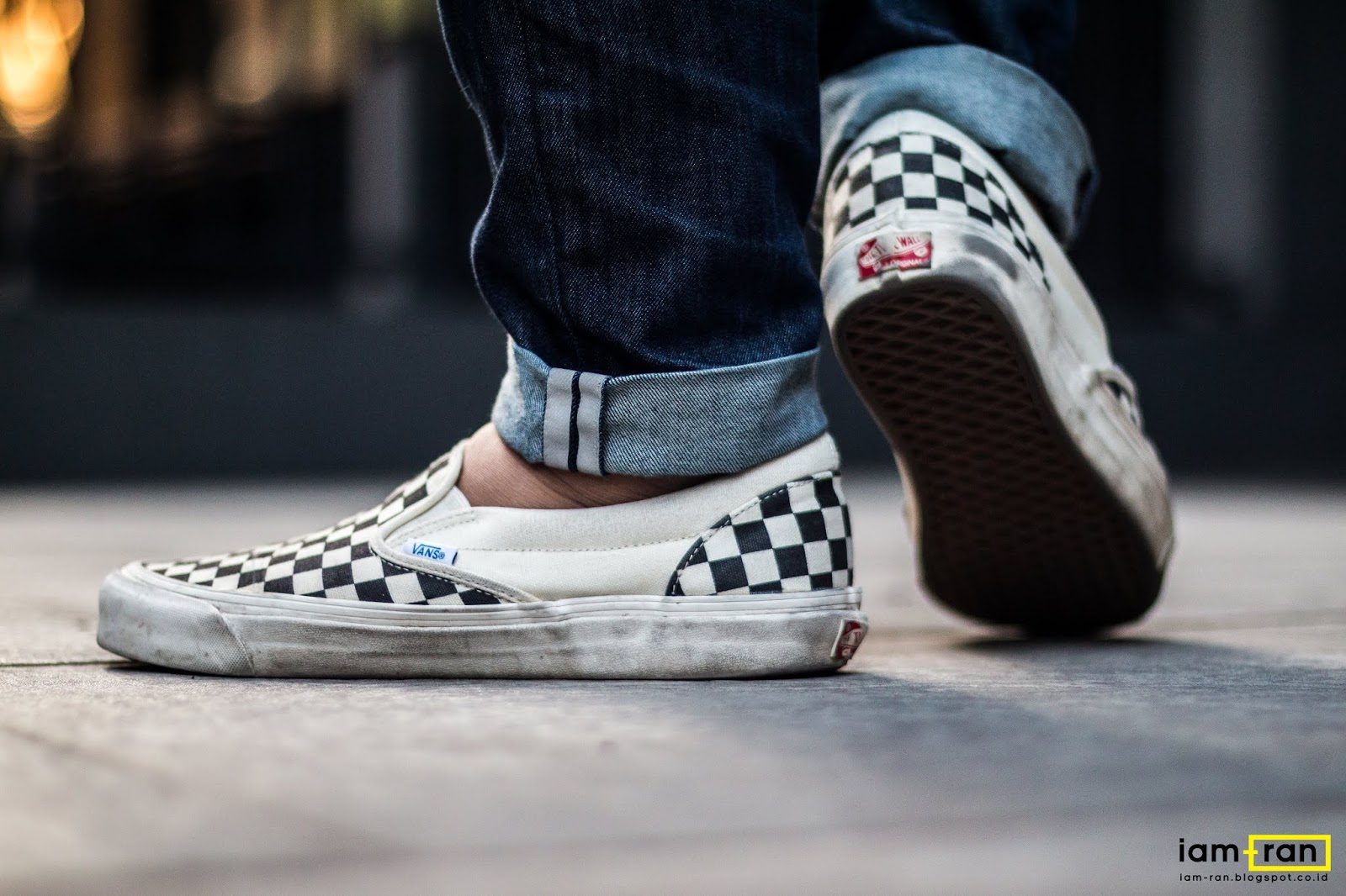 34675c26301af2 Ryan on feet. Sneakers   Vans Slip on Vault OG Checkerboard. Photo by   iam .ran06