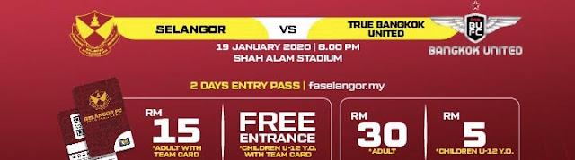 Live Streaming Selangor vs Bangkok United 19.1.2020