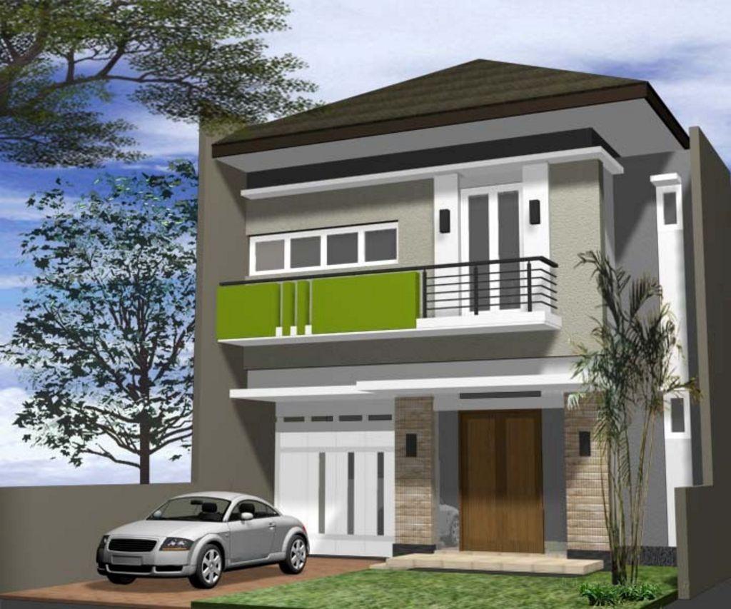 contoh sketsa rumah tingkat dua minimalis