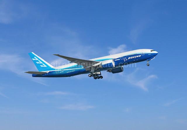 Boeing 777-200LR jetliner