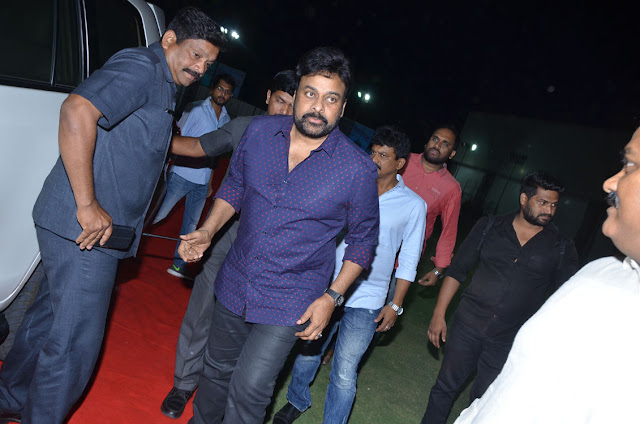 Megastar Chiranjeevi at Mister Movie Pre Release Event