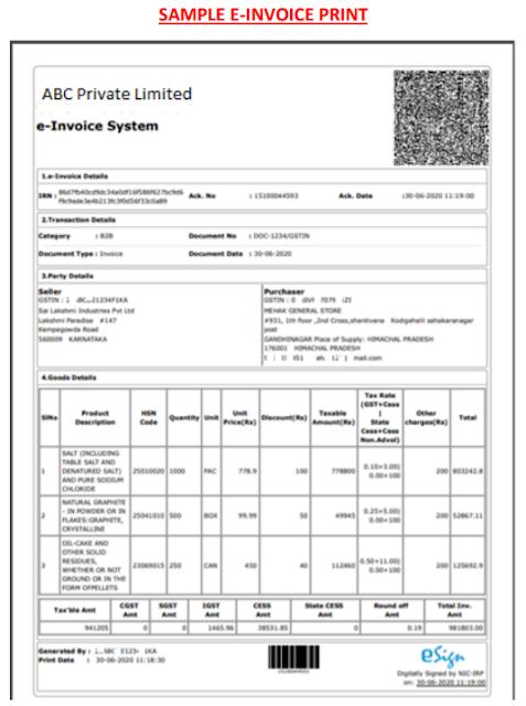 E-invoice-sample