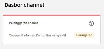 Jenis-Jenis Teguran Pelanggaran Youtube Dan Resikonya Untuk Creator