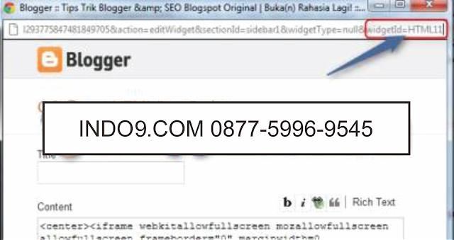 Cara Menampilkan Widget Hanya di Homepage & Halaman Posting