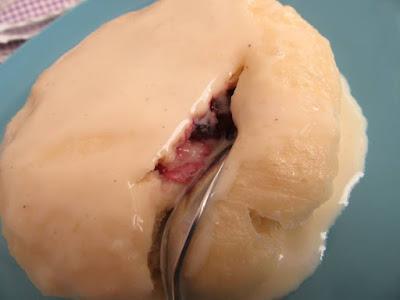 Dumplings with a berry fruit jam