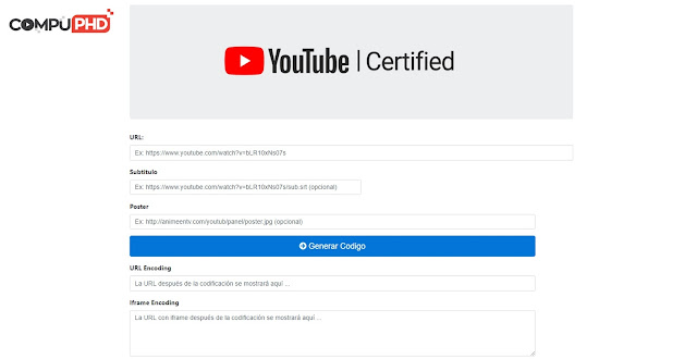 Youtube Player Embed Script