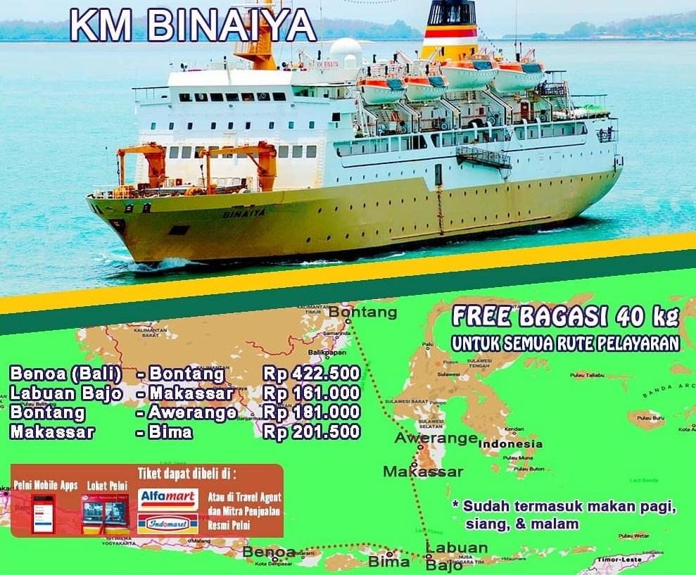 Jadwal Kapal Pelni Km Binaiya Bulan Oktober 2019 Dari
